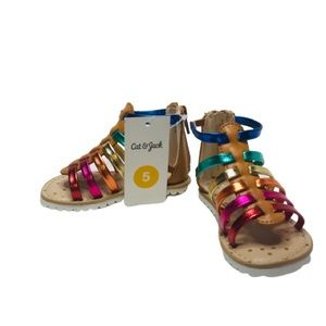 Cat & Jack Size 5 Rainbow Cognac Fionna Sandals